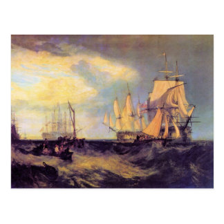 Joseph Mallord Turner - Recovering an anchor Postcard