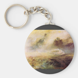 Joseph Mallord Turner - Rough Seas with wreckage Keychain