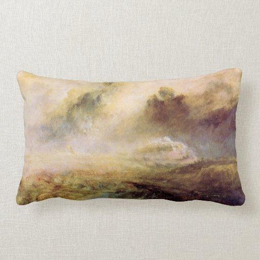 Joseph Mallord Turner - Rough Seas with wreckage Pillow