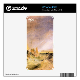 Joseph Mallord Turner - Shipping at the mouth of t iPhone 4S Skins