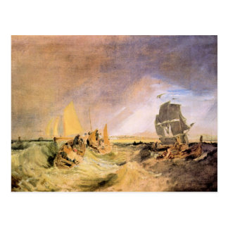 Joseph Mallord Turner - Shipping at the mouth of t Postcard