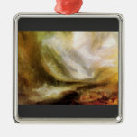 Joseph Mallord Turner - Snowstorm and avalanche Christmas Ornament