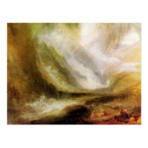 Joseph Mallord Turner - Snowstorm and avalanche Postcard