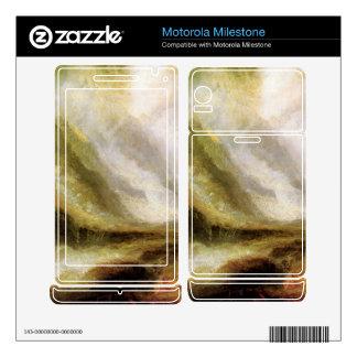 Joseph Mallord Turner - Snowstorm and avalanche Motorola Milestone Decals