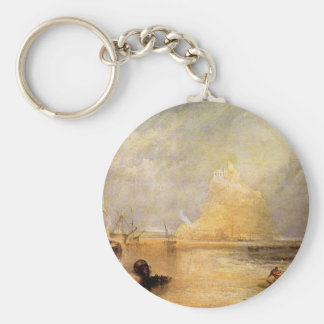 Joseph Mallord Turner - St Michaels Mount Cornwall Keychain