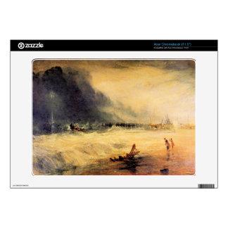 Joseph Mallord Turner - Stranded ship Decal For Acer Chromebook