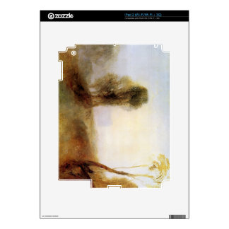 Joseph Mallord Turner - Sunrise castle on a bay Decal For iPad 2