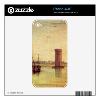 Joseph Mallord Turner - Tabley calm day Skins For The iPhone 4S