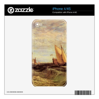 Joseph Mallord Turner - Thames at the Medway iPhone 4 Decal