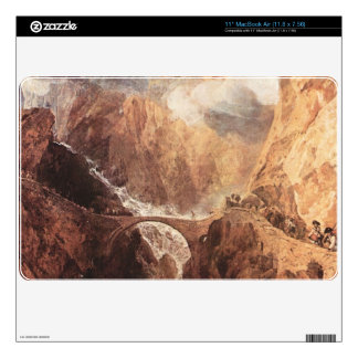 Joseph Mallord Turner - The Devils Bridge St Gotth Decal For MacBook