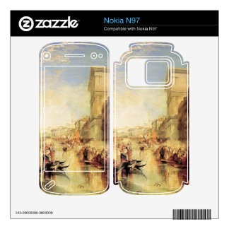 Joseph Mallord Turner - The grand canal in Venice Decal For Nokia N97