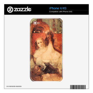 Joseph Mallord Turner - Two women with a letter Skins For The iPhone 4