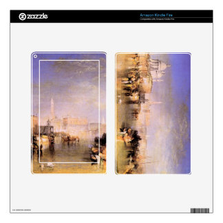 Joseph Mallord Turner - Venice from the canal Skins For Kindle Fire