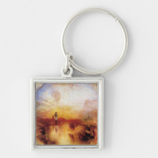 Joseph Mallord Turner - War and Exile Silver-Colored Square Keychain