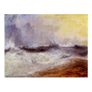 Joseph Mallord Turner - Waves breaking against the Postcard