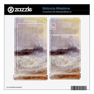 Joseph Mallord Turner - Waves breaking against the Motorola Milestone Skins