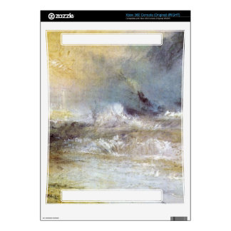 Joseph Mallord Turner - Waves breaking on a lee sh Decal For The Xbox 360