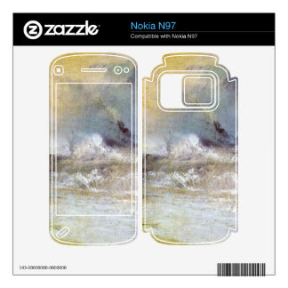 Joseph Mallord Turner - Waves breaking on a lee sh Decals For The Nokia N97