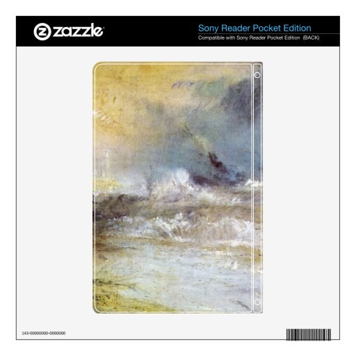 Joseph Mallord Turner - Waves breaking on a lee sh Skins For Sony Reader