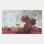 Joseph Mallord Turner - Windsor Castle from Salt h Rectangle Sticker