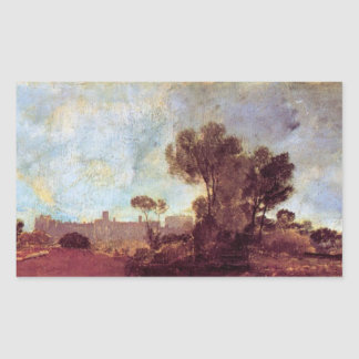Joseph Mallord Turner - Windsor Castle from Salt h Rectangular Sticker