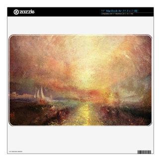 Joseph Mallord Turner - Yacht approaching the coas MacBook Skins
