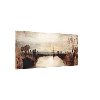Joseph Mallord William Turner - Chichester Canal Canvas Print
