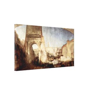 Joseph Mallord William Turner - Forum Romanum Stretched Canvas Print