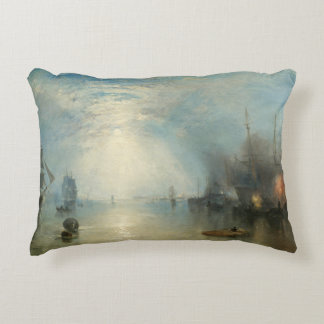 Joseph Mallord William Turner - Keelmen Heaving Accent Pillow