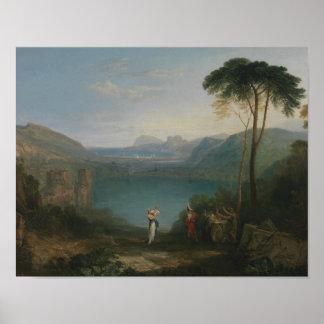 Joseph Mallord William Turner - Lake Avernus Poster