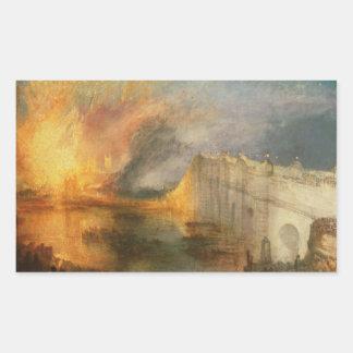 Joseph Mallord William Turner - The Burning of the Rectangular Sticker