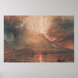 Joseph Mallord William Turner - Vesuvius Poster