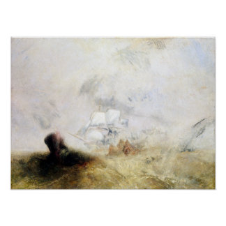 Joseph Mallord William Turner Whalers Poster