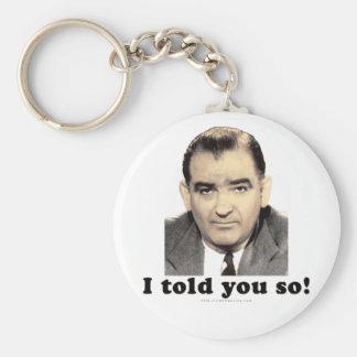 Joseph McCarthy Basic Round Button Keychain