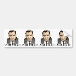 Joseph McCarthy Bumper Sticker