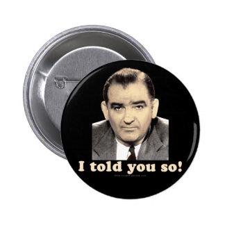 Joseph McCarthy Button