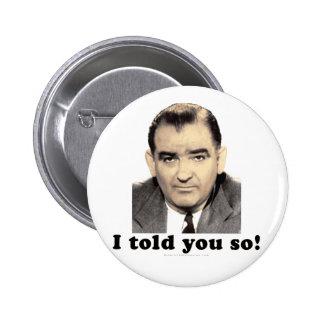 Joseph McCarthy Pinback Button