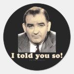 Joseph McCarthy Stickers