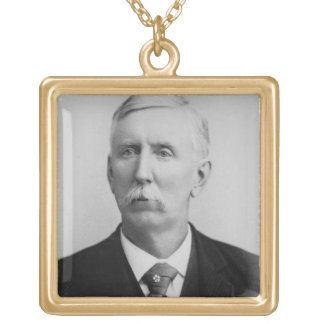 Joseph McCoy (1837-1915) (b/w photo) Gold Plated Necklace