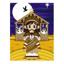 Joseph Nativity Postcard