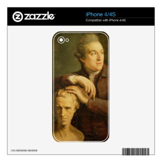 Joseph Nollekens (1737-1823) with his bust of Laur Decals For The iPhone 4