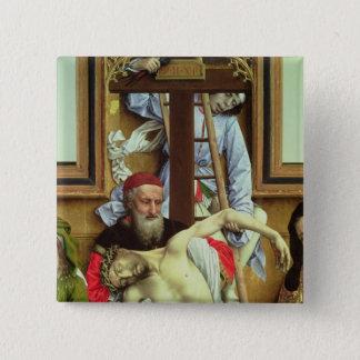 Joseph of Arimathea Supporting the Dead Christ Button