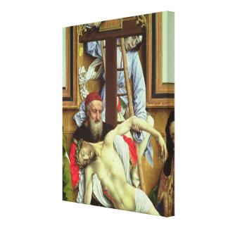Joseph of Arimathea Supporting the Dead Christ Canvas Print