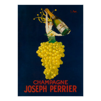 Joseph Perrier Champagne Promotional Poster
