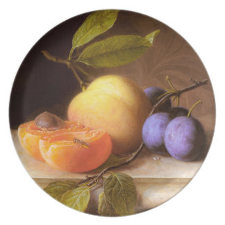 Joseph Peter Wilms - Peaches and Plums Plate
