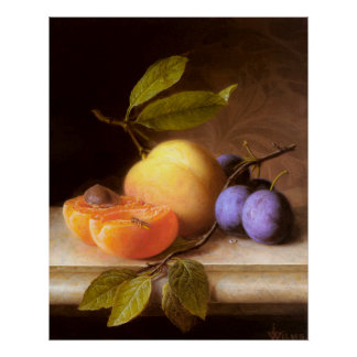 Joseph Peter Wilms - Peaches and Plums Poster