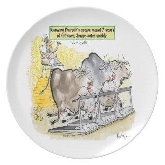Joseph Pharaoh's Dream Fat Cows Plate