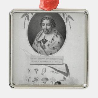 Joseph Pitton de Tournefort Square Metal Christmas Ornament