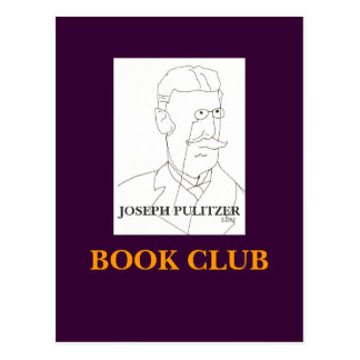 JOSEPH PULITZER, BOOK CLUB - POSTCARD