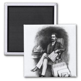 "Joseph Pulitzer ""del objeto curioso"", 1887 Imán Cuadrado"